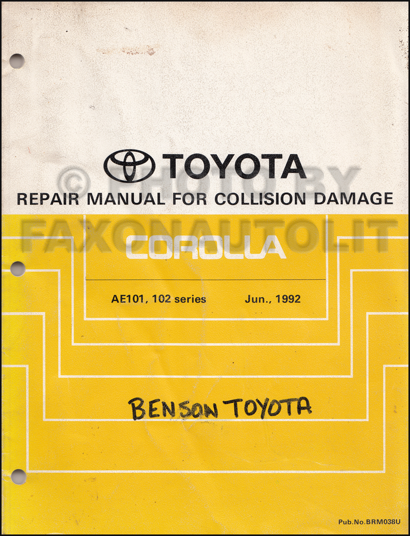 1992 toyota corolla wiring diagram gibson eds 1275 workshop service manual electrical 1993 1998 body collision original