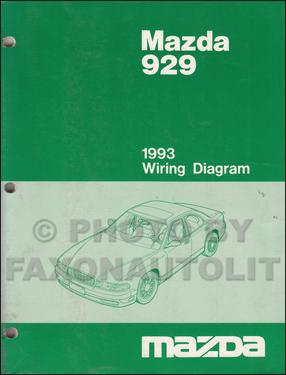 hight resolution of 1993 mazda 929 wiring diagram manual original