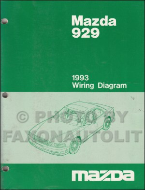 1993 Mazda 929 Wiring Diagram Manual Original
