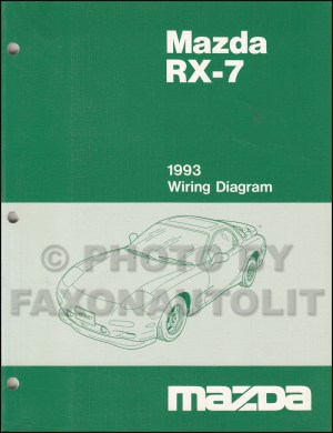 1993 Mazda RX7 Wiring Diagram Manual Original RX7