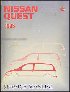 1993 Nissan Quest Van Repair Shop Manual Original