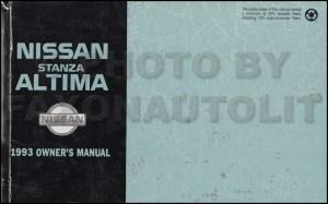 1993 Nissan Stanza Altima Wiring Diagram Manual Original