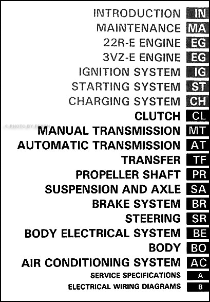 1993 Toyota 4Runner Repair Shop Manual Set Original