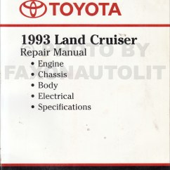 1996 Toyota Land Cruiser Electrical Wiring Diagram Ewd Opel Astra 1994 Service Manual Best Auto Repair 1993