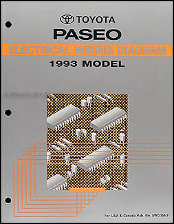 1993 Toyota Paseo Electrical Wiring Diagram Manual 93 NEW