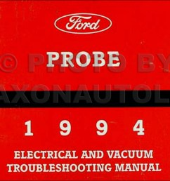 1994 ford probe electrical vacuum troubleshooting manual original rh faxonautoliterature com ford f 350 headlight [ 1305 x 1000 Pixel ]