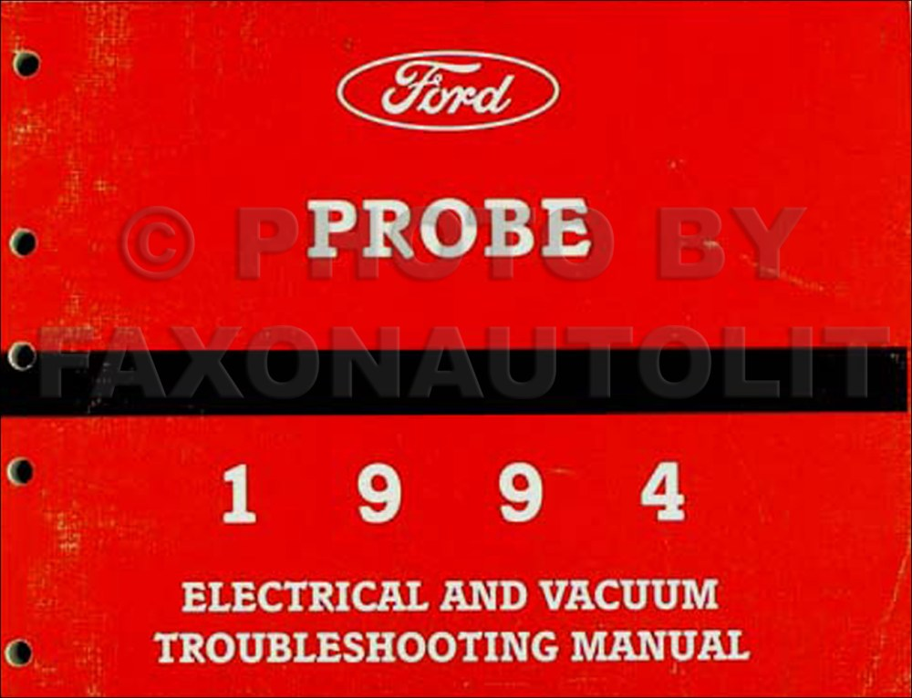 medium resolution of 1994 ford probe electrical vacuum troubleshooting manual original rh faxonautoliterature com ford f 350 headlight