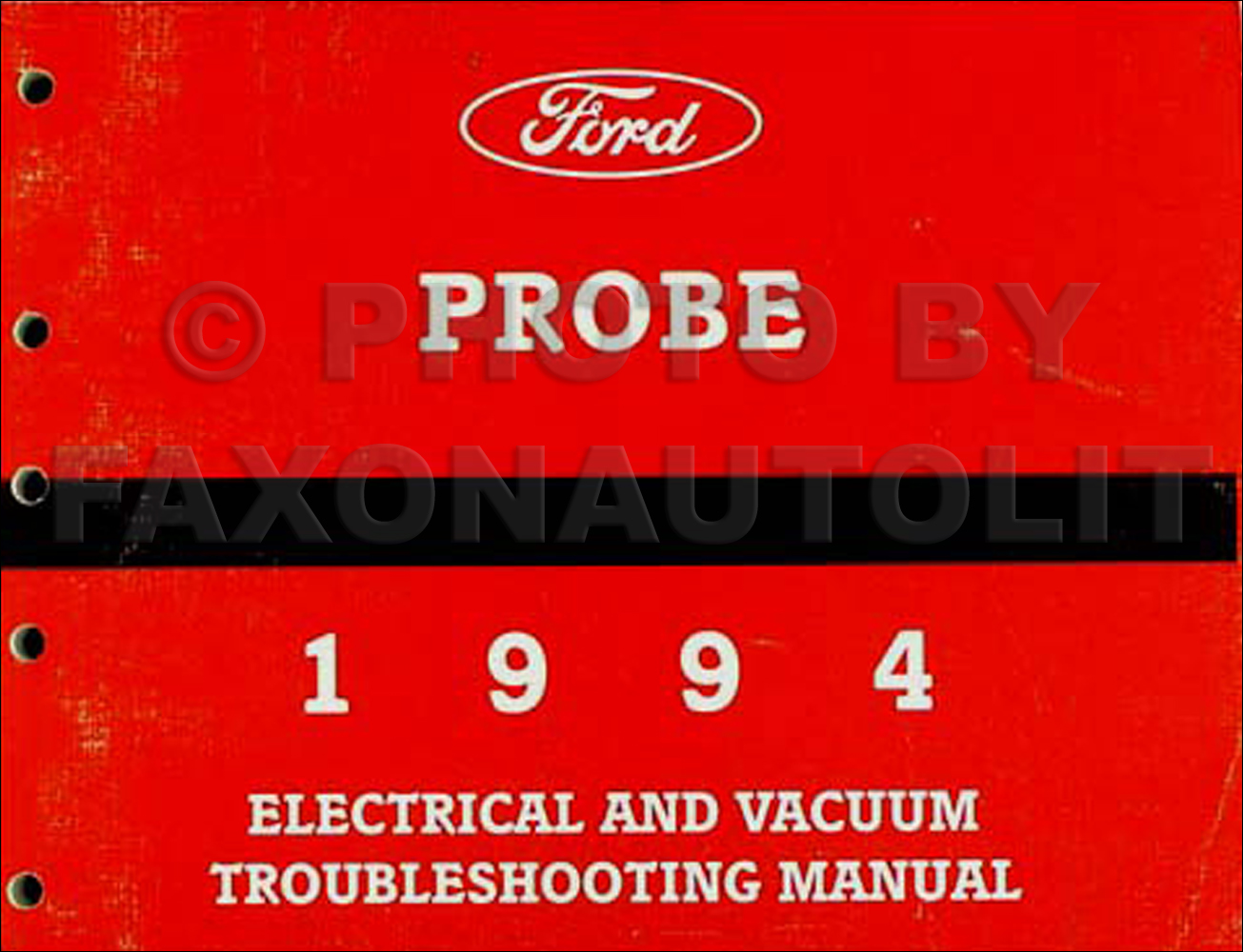 hight resolution of 1994 ford probe electrical vacuum troubleshooting manual original rh faxonautoliterature com ford f 350 headlight