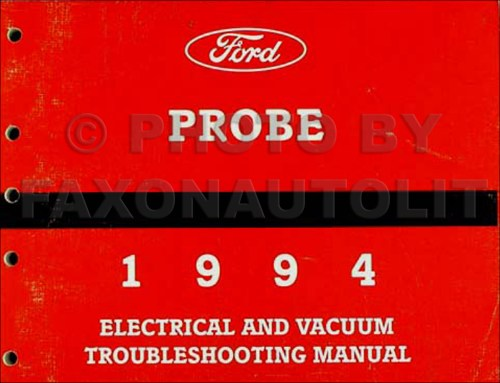 small resolution of 1994 ford probe electrical vacuum troubleshooting manual original rh faxonautoliterature com ford f 350 headlight