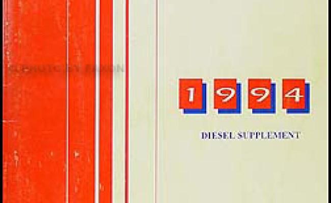 1994 Chevy Gmc Diesel Supplement C K Truck Suv G Van
