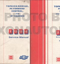 1994 topkick kodiak b7 p6 truck repair manual original 2 volume set [ 1240 x 800 Pixel ]
