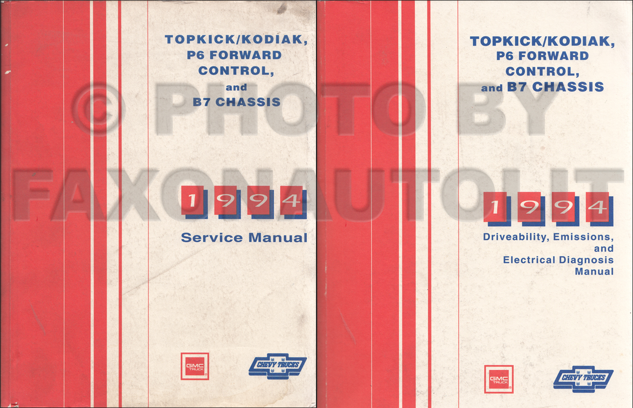 hight resolution of 1994 topkick kodiak b7 p6 truck repair manual original 2 volume set