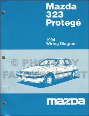 1994 Mazda 323 and Protege Wiring Diagram Manual Original