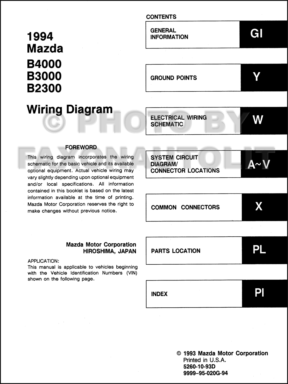 Mazda B4000 4x4 Wiring Diagram Free Image Wiring Diagram Engine