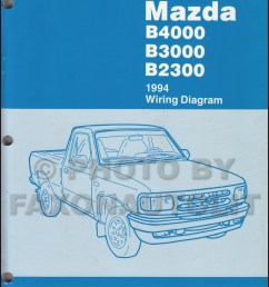 1994 mazda b4000 b3000 b2300 pickup truck wiring diagram manual original [ 800 x 1045 Pixel ]