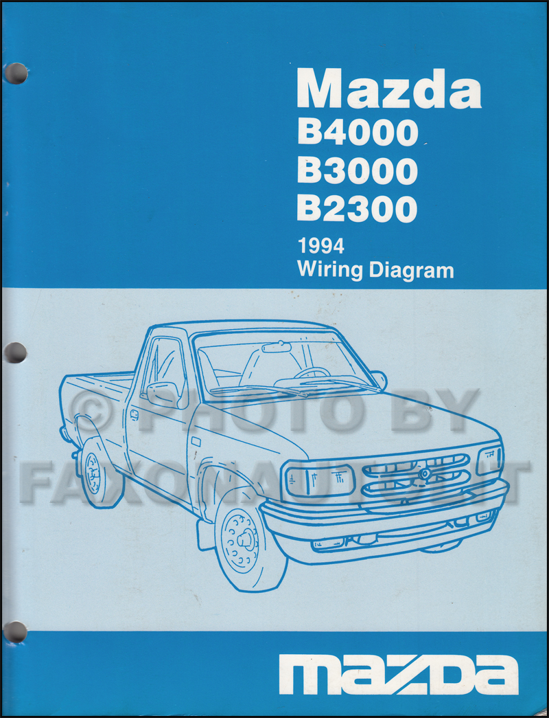 medium resolution of 1994 mazda b4000 b3000 b2300 pickup truck wiring diagram manual original
