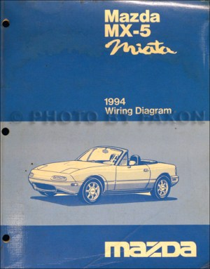 1994 Mazda MX5Miata Electrical Wiring Diagram Original