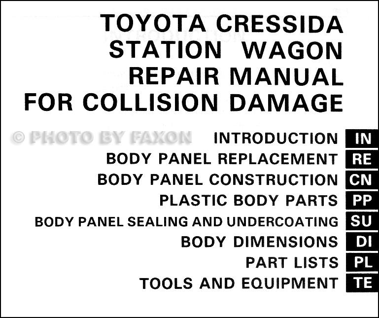 1985-1987 Toyota Cressida Station Wagon Body Collision