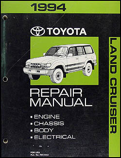 1994 Toyota Land Cruiser Wiring Diagram Manual Original
