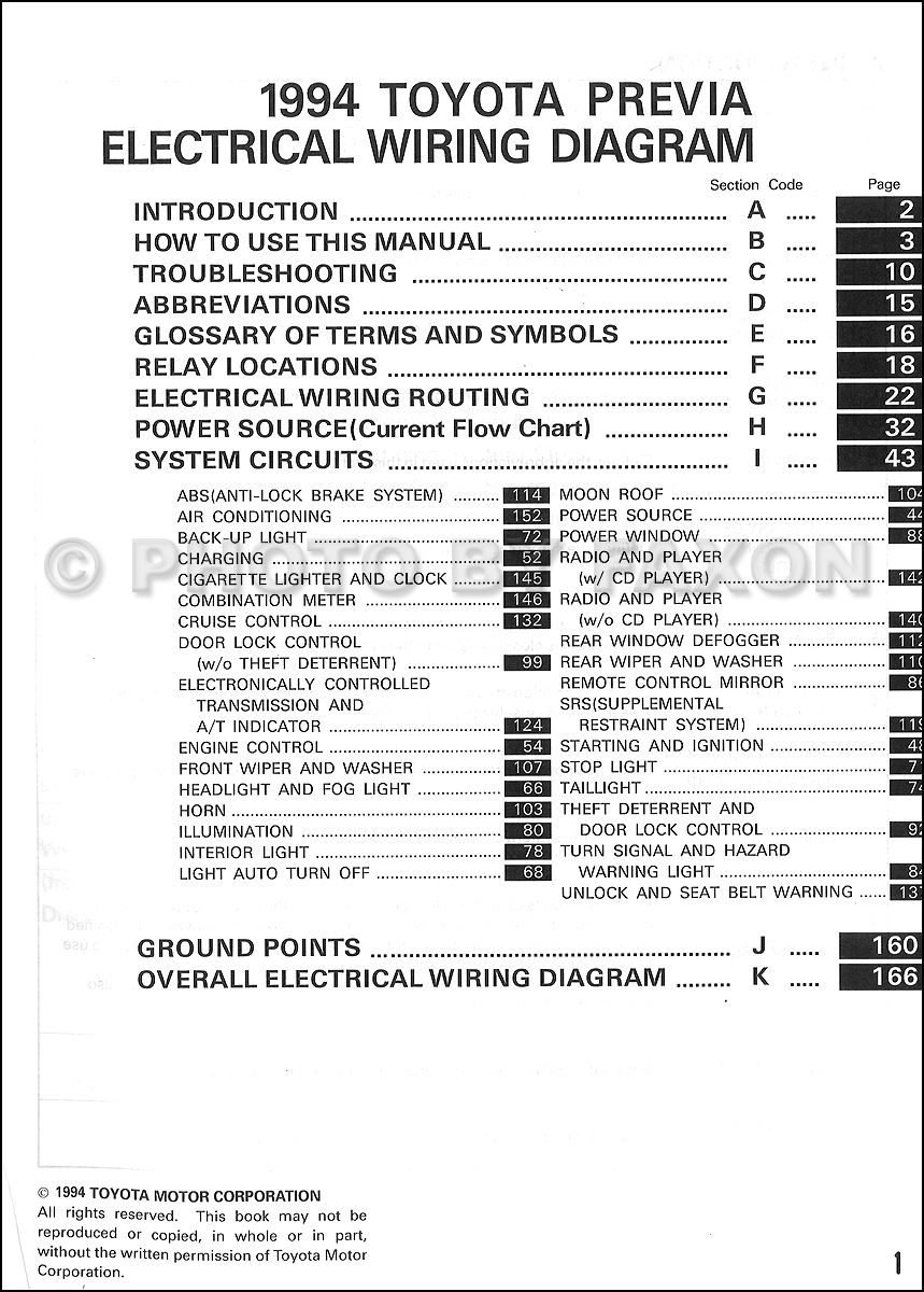hight resolution of 1994 toyota previa wiring diagram manual original supplement toyota camry electrical wiring diagram toyota wiring manual