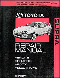 19951996 Toyota Supra Wiring Diagram Manual Original