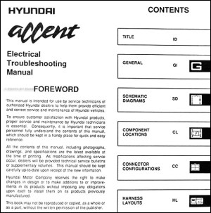 1995 Hyundai Accent Electrical Troubleshooting Manual Original