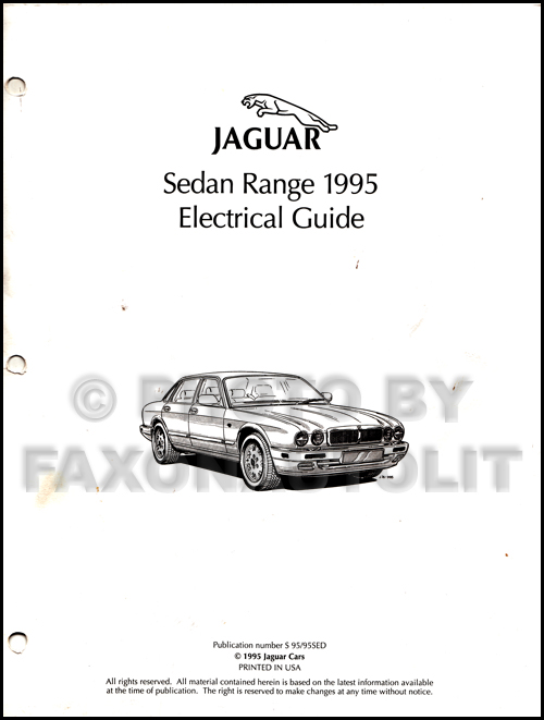 1995 Jaguar XJ12 Electrical Guide Wiring Diagram Original