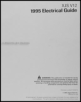 19951996 Jaguar XJS V12 Electrical Guide Wiring Diagram