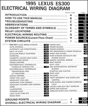 1995 Lexus ES 300 Wiring Diagram Manual Electrical Schematics 95 ES300 Original | eBay