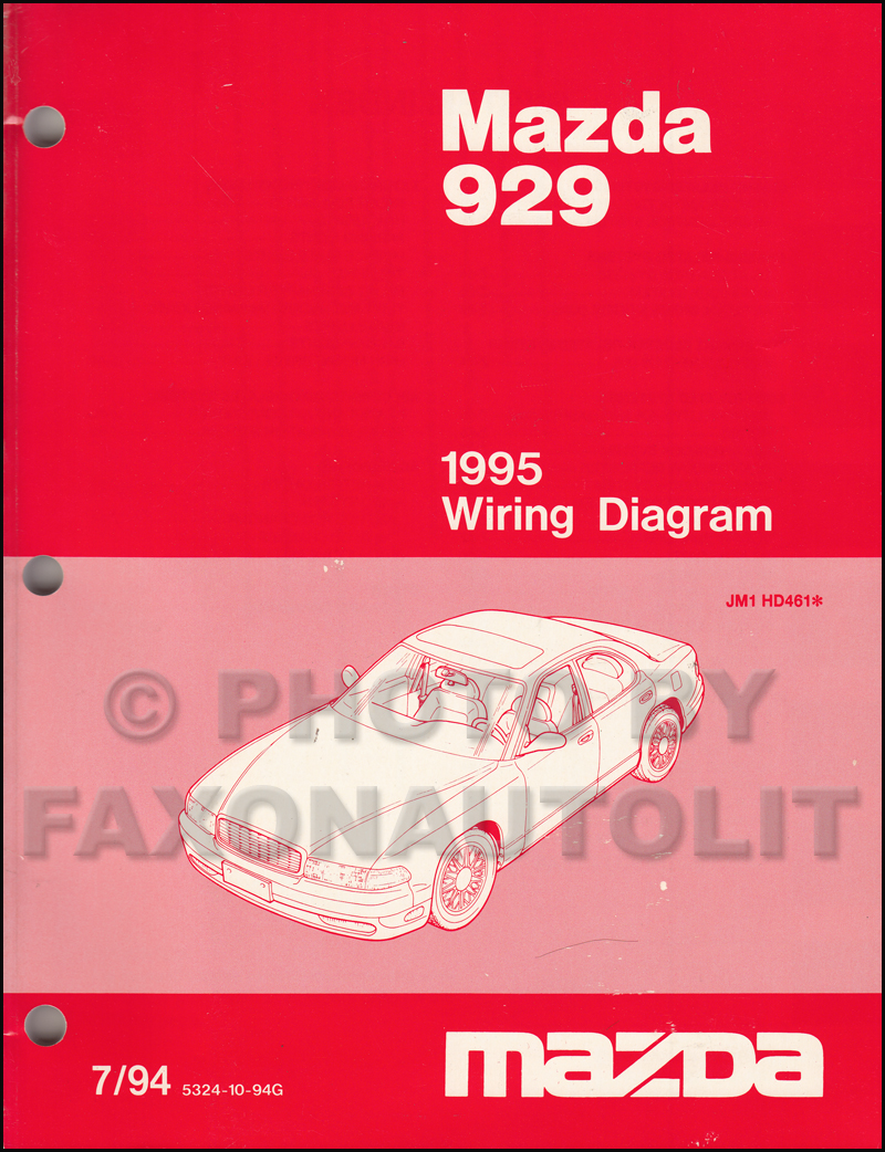 medium resolution of 1995 mazda 929 wiring diagram manual original 1997 mazda b4000