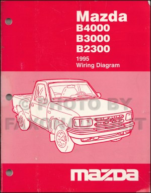 1995 Mazda Pickup Truck Repair Shop Manual Original B2300