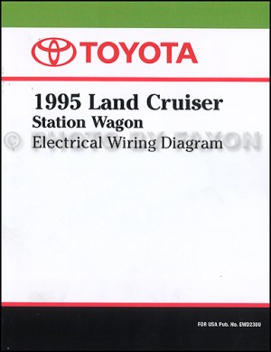 1995 Toyota Land Cruiser Wiring Diagram Manual Factory Reprint