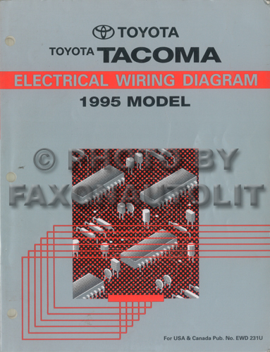 Home Toyota 1995 Toyota Tacoma Electrical Wiring Diagrams Original