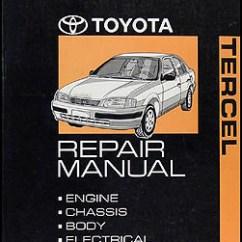 1995 Toyota Tercel Engine Diagram Vfd Starter Panel Wiring Repair Shop Manual Original