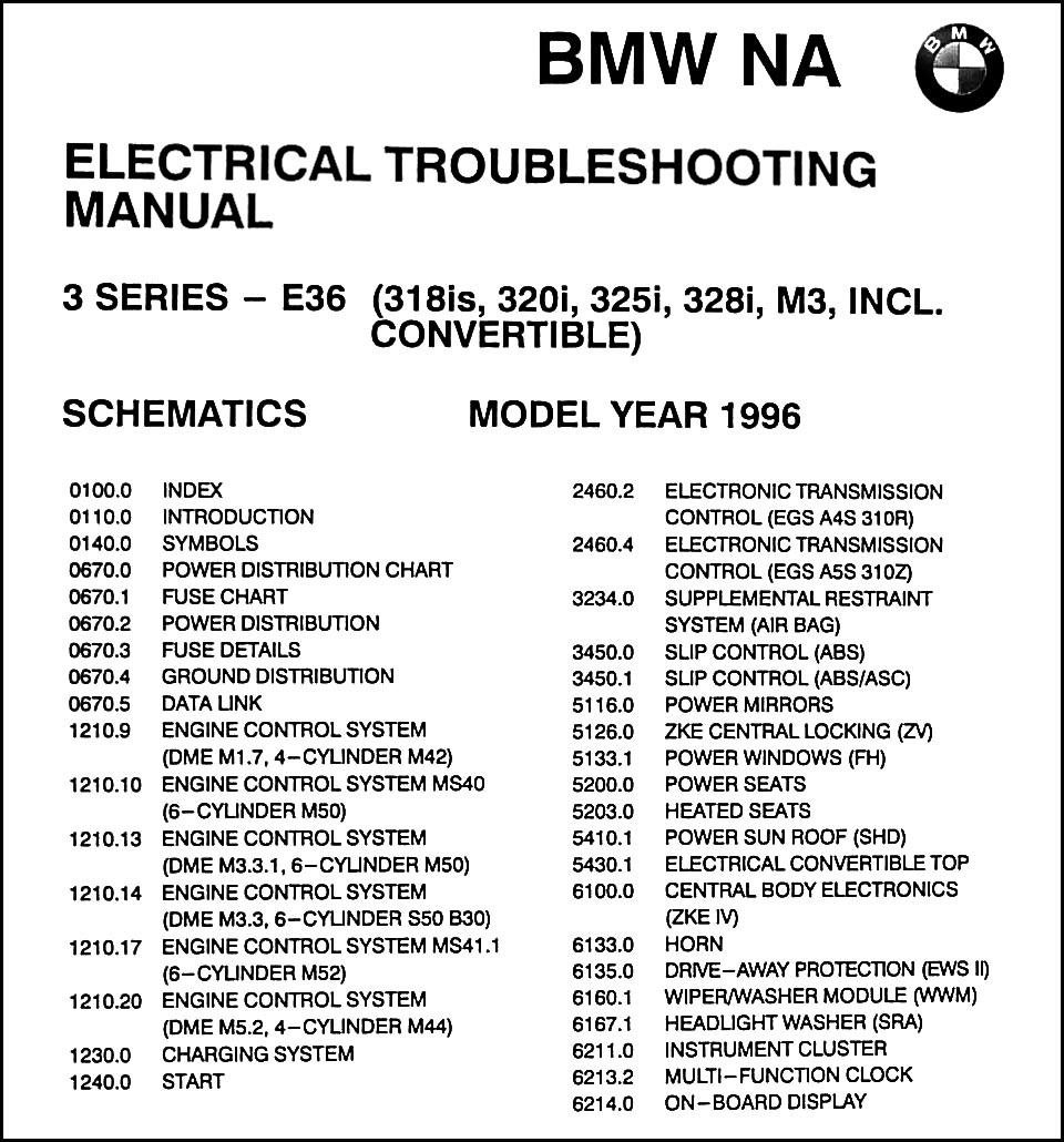 hight resolution of 1996bmw318ietm toc1 2003 bmw 325i owners manuals wiring diagram 100 images e39 bmw