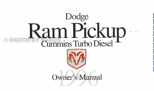 1996 Dodge Ram Truck Repair Shop Manual Original 1500-2500