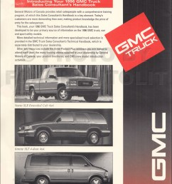 1996 gmc light duty sales consultant handbook dealer album original canadian [ 1000 x 1309 Pixel ]