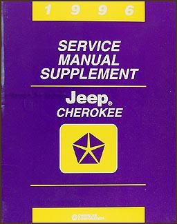 1996 Jeep Cherokee Repair Shop Manual Supplement Original