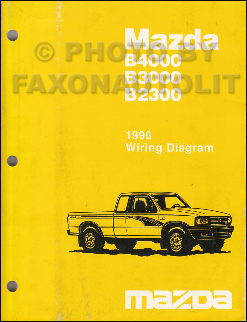 medium resolution of 1996 mazda b4000 b3000 b2300 pickup truck wiring diagram manual original mazda b4000 fuse diagram mazda b4000 diagram