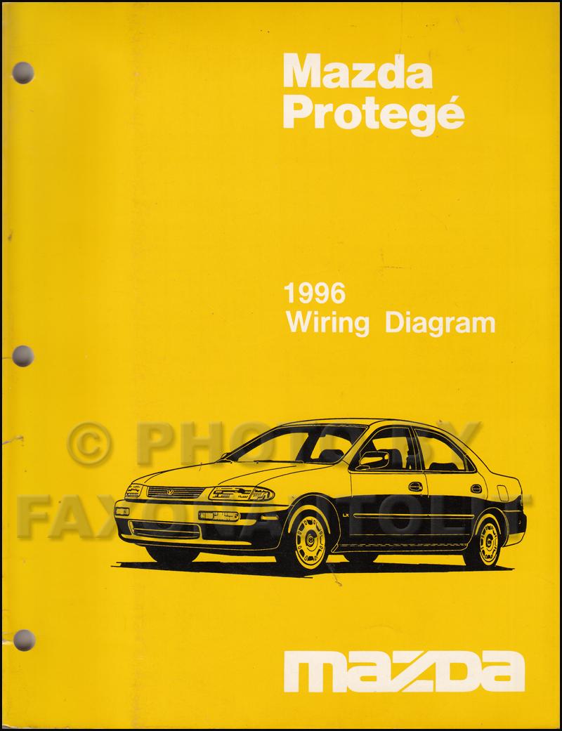 mazda protege wiring diagram block reduction rules 1996 manual original
