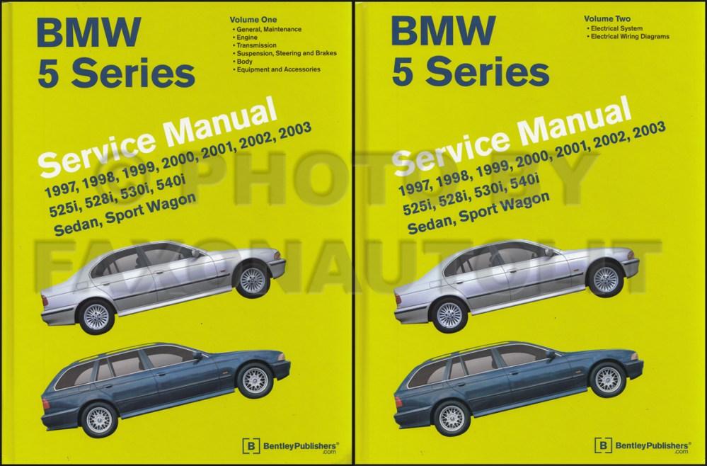medium resolution of 1997 2002 bmw 5 series bently repair manual 2 vol set