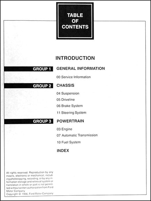 Service manual [Free Car Repair Manuals 1997 Mercury