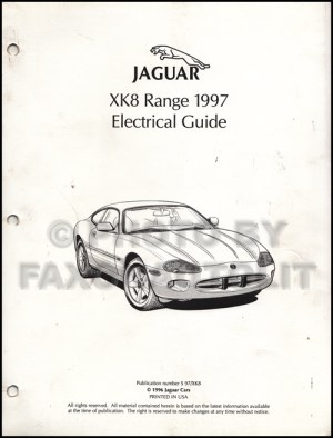 1997 Jaguar XK8 Electrical Guide Wiring Diagram Original