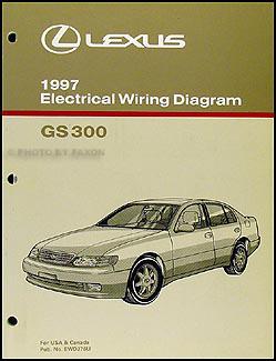 1997 Lexus GS 300 Wiring Diagram Manual Original
