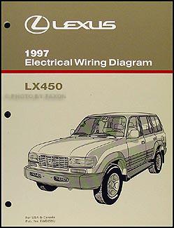 1997 Lexus LX 450 Wiring Diagram Manual Original