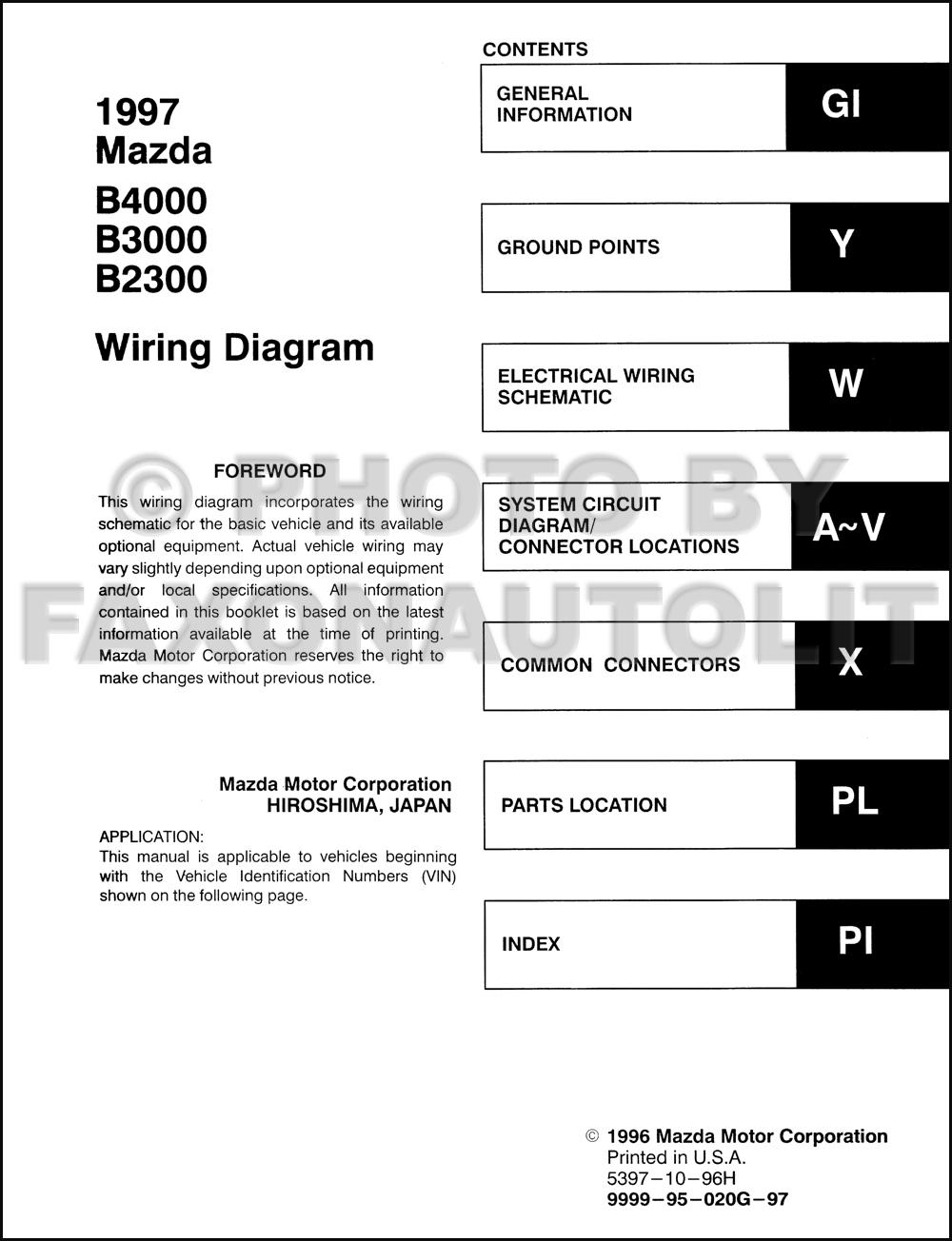 hight resolution of 1997 mazda wiring diagram 2 sg dbd de u20221997 mazda b4000 b3000 b2300 pickup truck