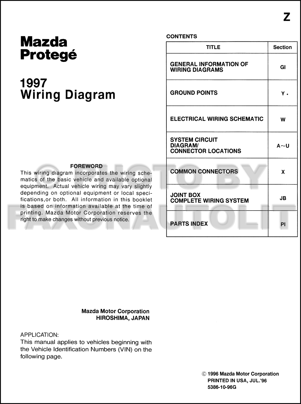 medium resolution of 1997mazdaprotegeowd toc 1997 mazda protege wiring diagram manual original 1999 mazda protege speaker