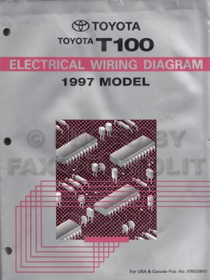 1997 Toyota T100 Truck Wiring Diagram Manual Original