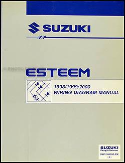 19982000 Suzuki Esteem Wiring Diagram Manual Original