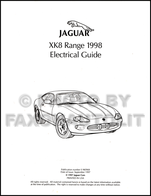 1998 Jaguar XK8 Electrical Guide Wiring Diagram Original